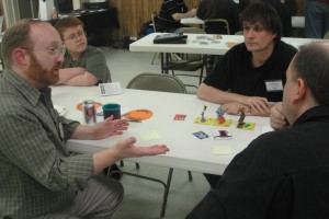 Jason Tagmire explaining a game.